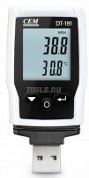 CEM DT-191A - измеритель-регистратор температуры и относительной влажности