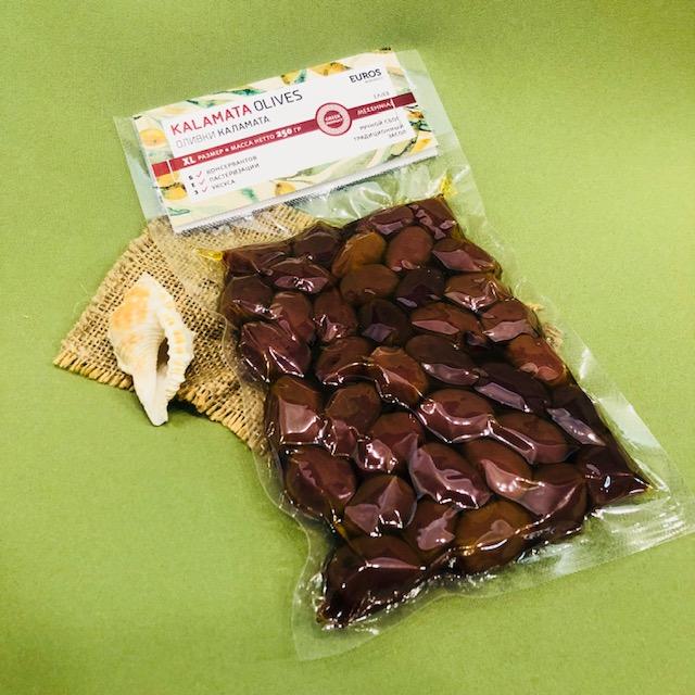 КАЛАМАТА оливки в вакуумной упаковке 200 гр