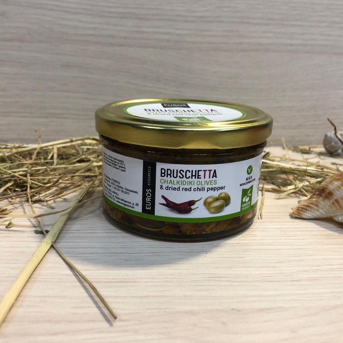 Брускетта из оливок ХАЛКИДИКИ с острым перцем - 150 гр