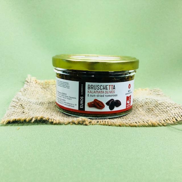 Брускетта из оливок КАЛАМАТА с вяленым томатом