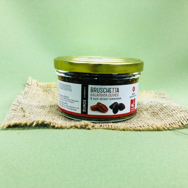 Брускетта из оливок КАЛАМАТА с вяленым томатом - 150 гр