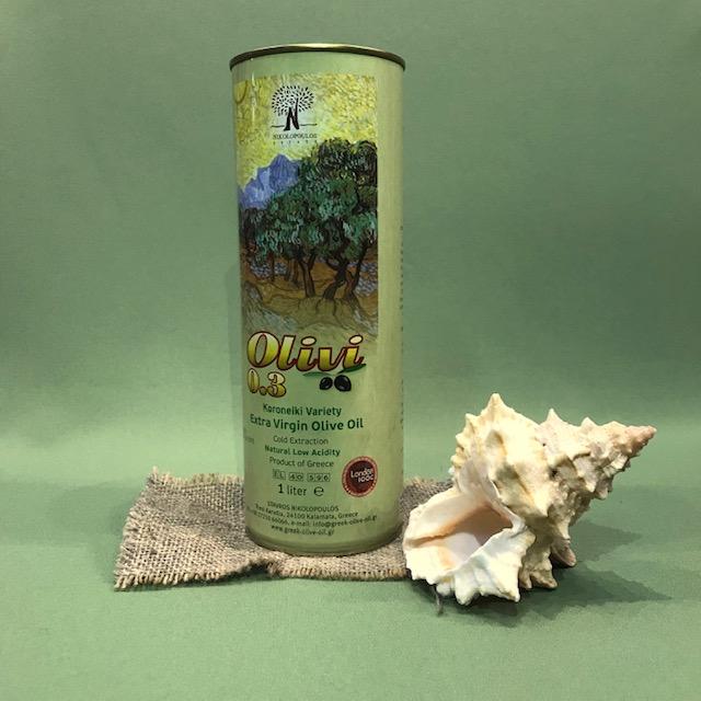 """Масло оливковое первого холодного отжима """"Olivi"""" 1 л"""