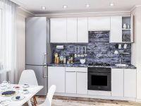 Кухня акрилит AL 2,3м белый