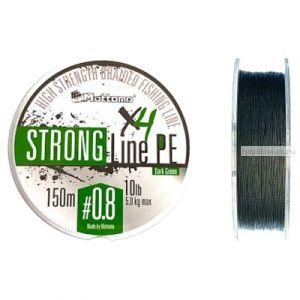 Плетеный шнур Mottomo Strong Line PE 150м / цвет: Dark Green