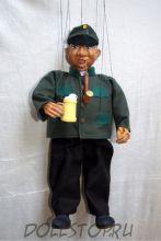 Чешская кукла-марионетка Швейк - A67 ŠVEJK (Чехия, Praha, Hand Made, авторы  Ивета и Павел Новотные)