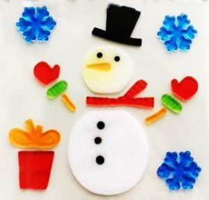 Гелевые наклейки Снеговик