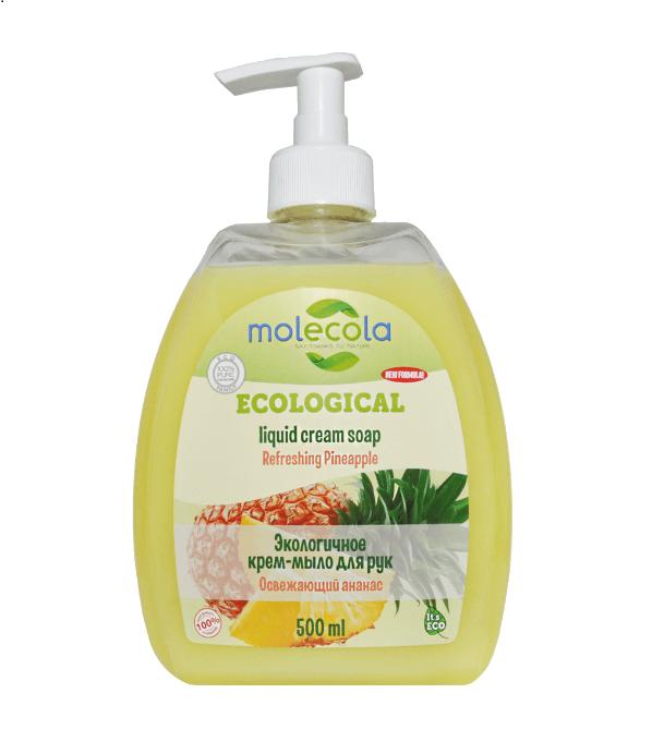 Экологичное жидкое мыло для рук Освежающий ананас, 500мл