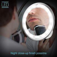 Косметическое зеркало на вакуумной присоске и подсветкой My Fold Jin Ge Mirror