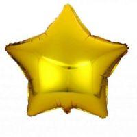 """Шар фольга звезда золотая 18"""""""