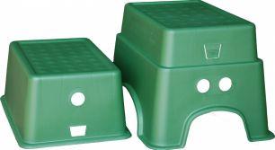 Табурет-подставка зеленый