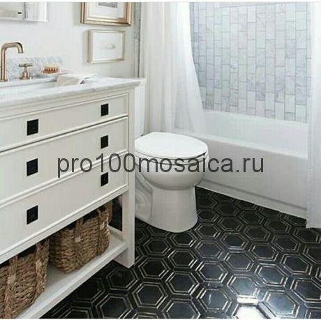 Декор DONATO BLACK. Мозаика серия Water Jet, размер, мм: 305*305*10 (ORRO Mosaic)