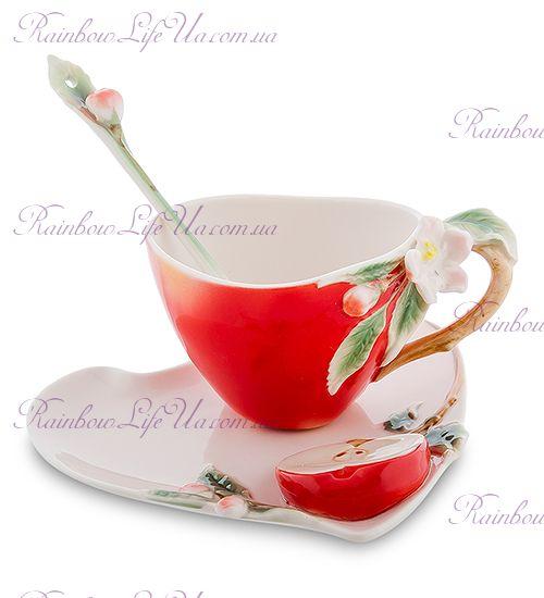 Чайная пара с ложечкой Яблоко ''Pavone''
