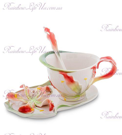 Чайная пара с ложечкой Глориоза ''Pavone''