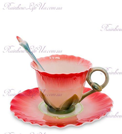 Чайная пара с ложкой Торения ''Pavone''