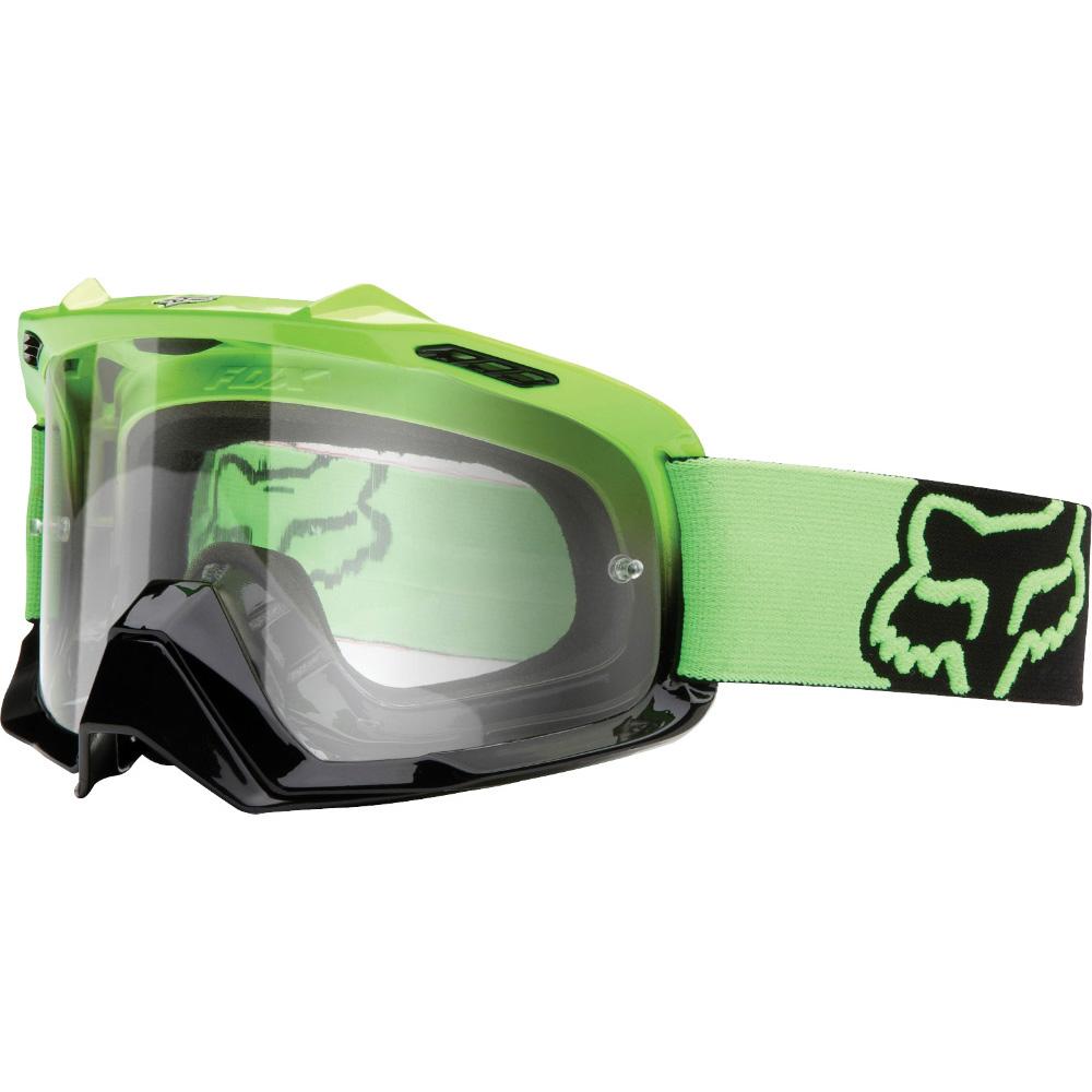 Fox - AIR SPACE Day Glow Green очки, прозрачная линза