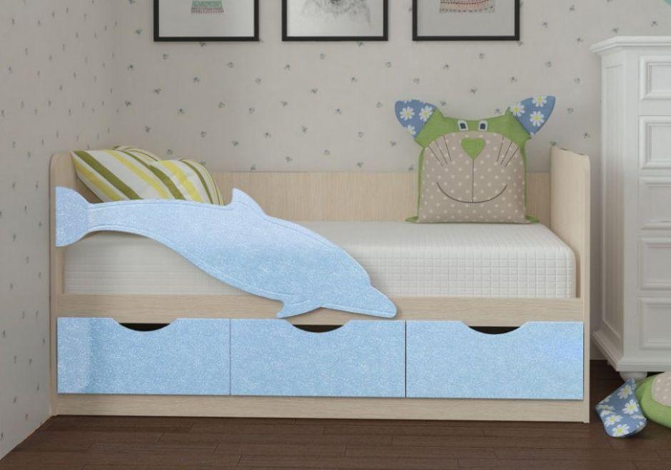 Детская кровать Дельфин 3 МДФ 2,0 м