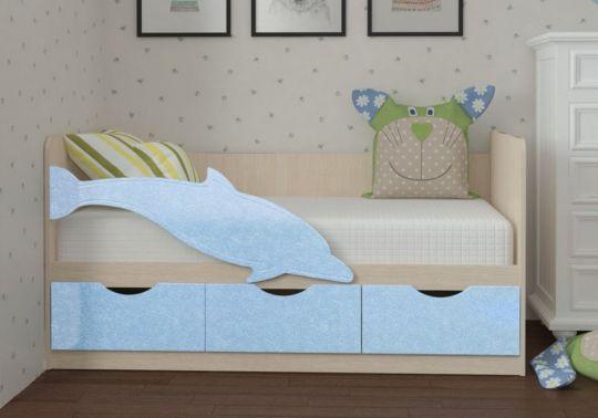 Детская кровать Дельфин 3 МДФ 1,6 м