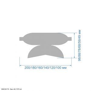 Шаблон ''Бант-46'' , ПЭТ 0,7 мм (1уп = 5шт)