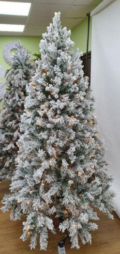 Искусственная елка Атлантида 230 см 312 ламп заснеженная