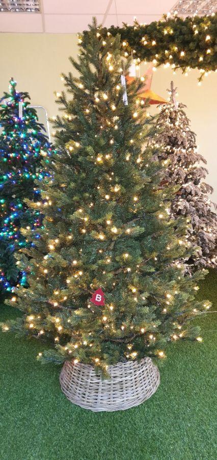 Искусственная елка Датская 230 см 528 ламп зеленая