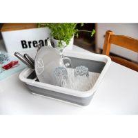 Сушилка-поддон для посуды складная силиконовая, 38х29х12 см (6)