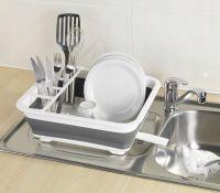 Сушилка-поддон для посуды складная силиконовая, 38х29х12 см (7)