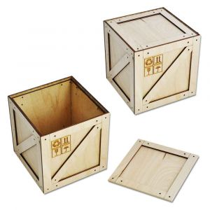 Коробка-ящик под подарок (112 мм)
