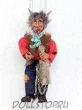 Чешская кукла-марионетка Черт   -  ČERT (Чехия, Praha, Hand Made, авторы  Ивета и Павел Новотные)
