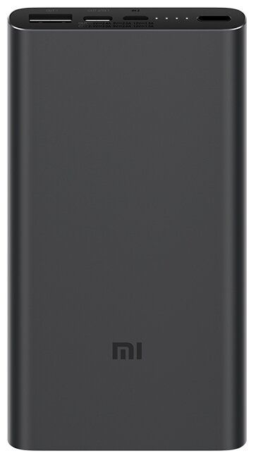 Универсальный внешний аккумулятор (Power Bank) Xiaomi Mi Power Bank 3 10000 (10000 mAh) (black)