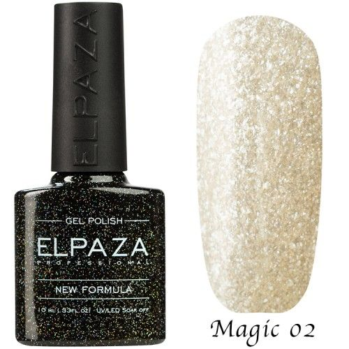 Гель лак ELPAZA MAGIC GLITTER 10 мл ЛАПЛАНДИЯ 02