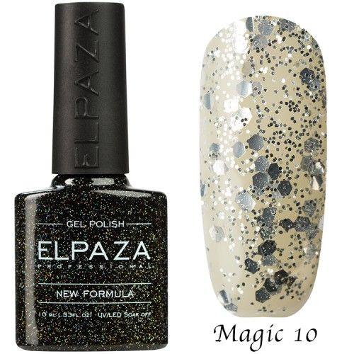 Гель лак ELPAZA MAGIC GLITTER 10 мл  РОССЫПЬ ЗВЕЗД 10