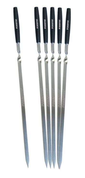 Шампур F 60 см(6шт.) деревянная.ручка в блистере RZ-60WB