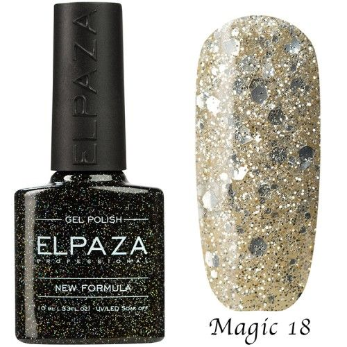 Гель лак ELPAZA MAGIC GLITTER 10 мл ДИАДЕМА 18