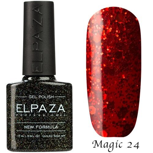 Гель лак ELPAZA MAGIC GLITTER 10 мл АЛЫЙ ЗАКАТ 24