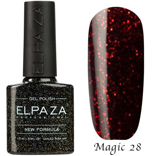 Гель лак ELPAZA MAGIC GLITTER 10 мл АРТЕМИДА 28