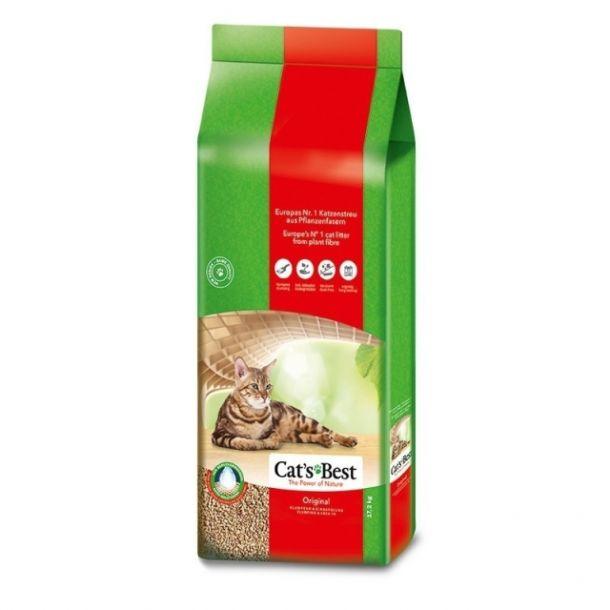 Наполнитель для кошек  Cat's Best комкующийся древесный, Original, 17,2кг (40л)