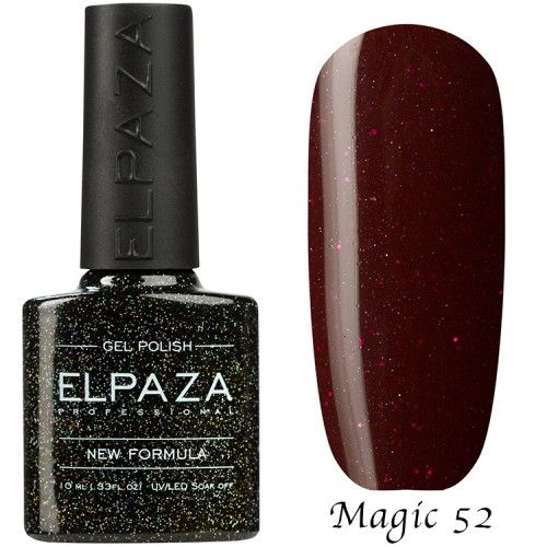 Гель лак ELPAZA MAGIC GLITTER 10 мл ВАЛЕНТИНКА 52