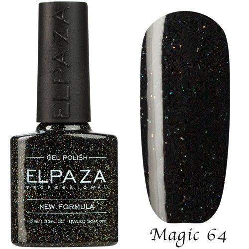 Гель лак ELPAZA MAGIC GLITTER 10 мл ОГНЕННЫЙ КРИСТАЛЛ 64