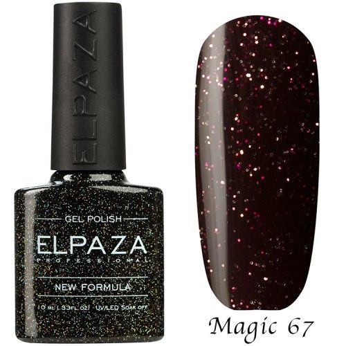 Гель лак ELPAZA MAGIC GLITTER 10 мл БРУКЛИН 67