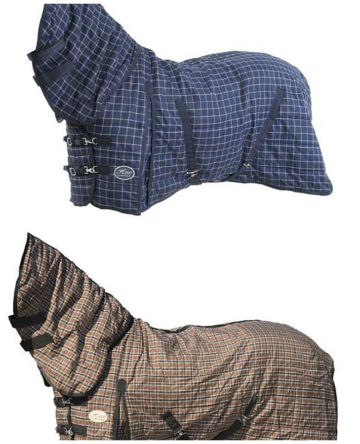 """Денниковая попона с капором """"Horse Comfort"""", 320 ДЕН, наполнитель 100 гр, нейлоновая подкладка."""