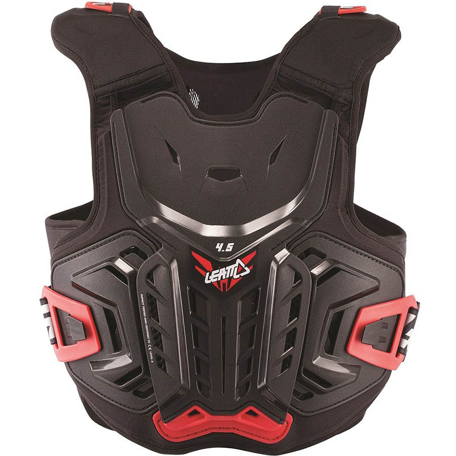 Leatt Chest Protector 4.5 Junior Black/Red защита торса подростковая, черно-красная