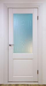 """Дверь Classik 1S """"Белый шёлк"""" ПВХ софт тач"""