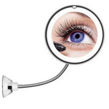 Косметическое зеркало на вакуумной присоске и подсветкой My Fold Jin Ge Mirror, Цвет держателя: Белый