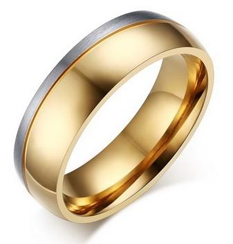 Мужское двухцветное кольцо