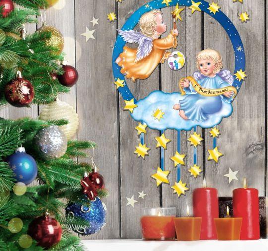 Венок Рождественский Ангелочки