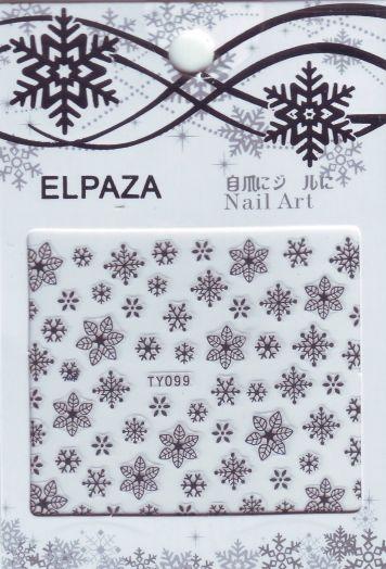 3D наклейки ELPAZA TY099 новогодний