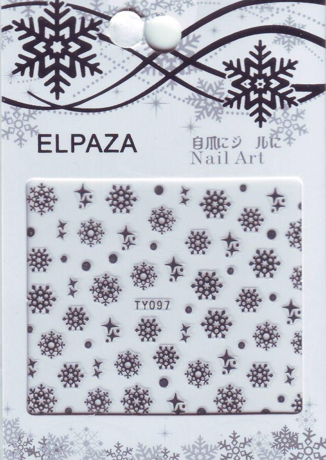 3D наклейки ELPAZA TY097 новогодний