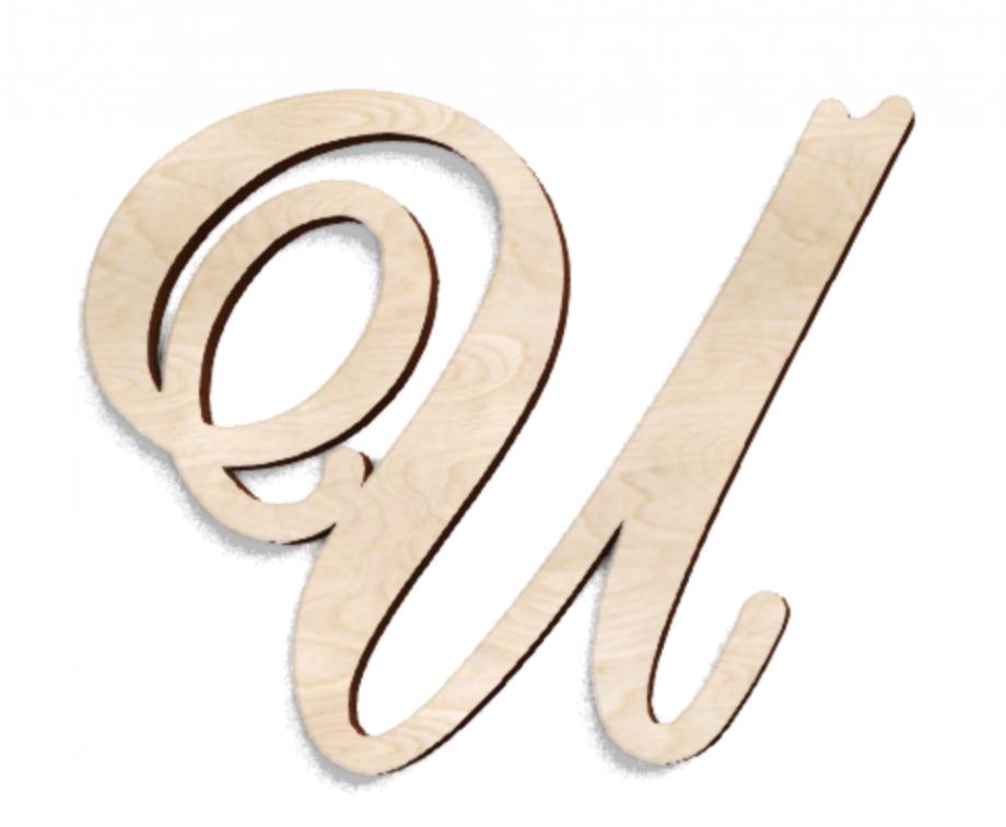 Деревянная буква И