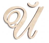 Деревянная буква Й