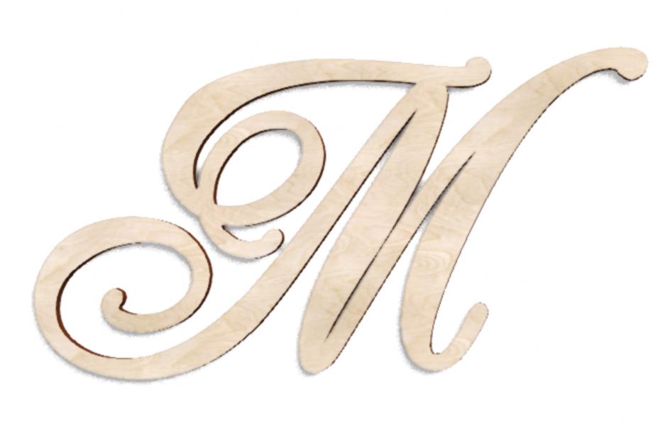 Деревянная буква М
